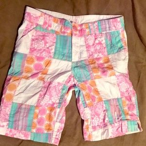 Kids Patchwork Shorts Size 12 from Justice